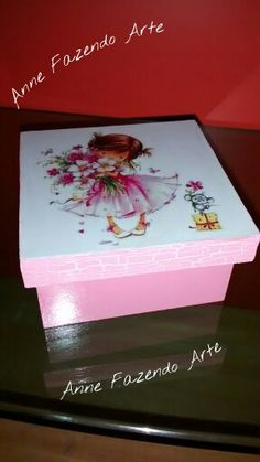 Caixa Doce Menina Mindfulness For Kids, Decoupage Ideas, Mix Media, Decorative Boxes, Home Decor, Rope Necklace, Make Art, Decorated Boxes, Bottles