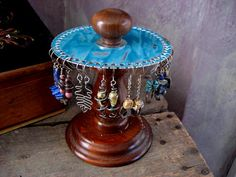 earring holder jewelry display upcycled by ConvolutedNotions