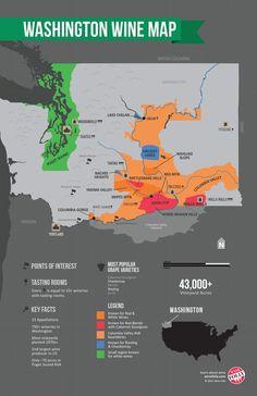 Washington Wine Map by Wine Folly, 2014