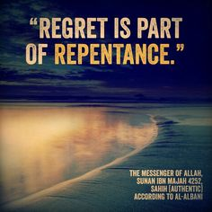 #Regret is part of #repentance