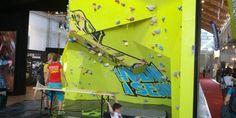 Boulder-Challenge von Salewa auf der OutDoor Messe in Friedrichshafen