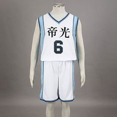 Cosplay Costume Inspired by The Basketball Which Kuroko Plays Aomine Daiki Teikō Middle School Basketball Team Uniform White NO.6