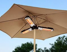 AZ Patio Heater Electric Umbrella Heater > Durable steel electric heater with black finish halogen bulb; Concrete Patios, Propane Patio Heater, Deck Heaters, Outside Heaters, Porch Heater, Outdoor Heaters Patio, Outdoor Patios, Camping 3, Backyard Camping