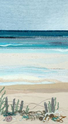 Alison is a Devon based textile artist inspired by the coast and countryside. Landscape Art Quilts, Landscapes, Blog Art, Textiles Sketchbook, Thread Painting, Thread Art, Creative Textiles, Fabric Pictures, Sewing Art