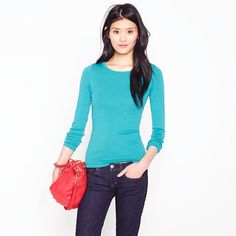 J.Crew perfect-fit long-sleeved tee (they are awesome, especially now that they are cut slimmer)
