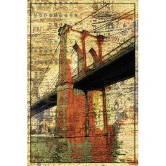 East Urban Home The Brooklyn Bridge, NYC by Irena Orlov Graphic Art on Wrapped Canvas Size: