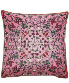 This unique Silken Favours cushion is created using a hand-drawn print which is then warped to compose a modern piece of silk homeware.  <p>This unique Silken Favours cushion is created using a hand-drawn print which is then warped to compose a modern piece of silk homeware.