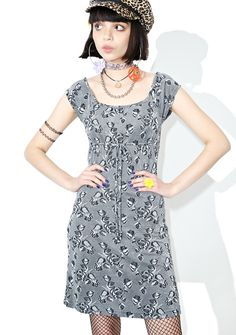 310634fd2 Vintage 90s Slinky Grey Floral Dress features a supa stretchy grey floral  knit construction, scoop