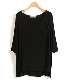 Boyfriend T-shirt with Batwing Sleeves