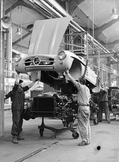 """"""" 1954 Mercedes-Benz 300SL (W198) Assembly line by Auto Clasico on Flickr. """""""