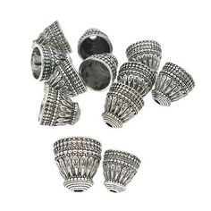 10 Pcs Antique Silver Tassels Cap Beads Pagoda Findings For DIY Jewelry Marking Metal Flowers, Silver Flowers, Beaded Flowers, Silver Filigree, Antique Silver, Silver Metal, Diy Bracelet Ends, Diy Jewelry Findings, Tassel Jewelry