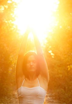 Sun salutation. An awesome way to start your morning