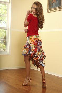 Dance AmericaS404 - Asymmetric Flounced Skirt