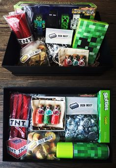 Minecraft Care Package / Gift Box - Made this for a 9 year old's Birthday!
