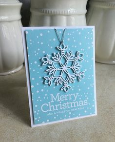 I'm in Haven: Snowflake Ornament Card