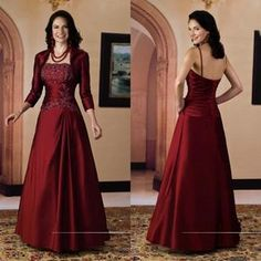 New 2015 Elegant Satin Strapless Applique Beaded A Line Mother Of The Bride Dresses With Long Sleeve Bolero Jacket Formal Suit Party Gowns Mother Of The Groom Dresses Petite Mother Of The Grooms Dresses From Y_young, $101.58| Dhgate.Com