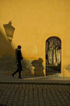 yellow wall and shadow