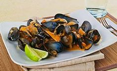 20 minute Red Thai Curry Mussels. Have this delish dinner ready in less time than ordering take out.