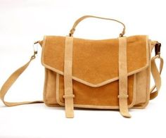 suede carry all satchel