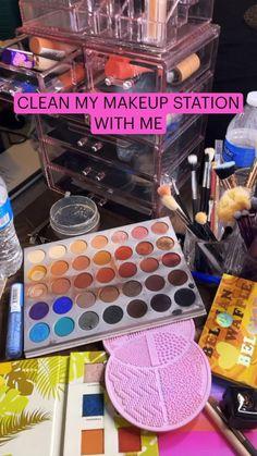 Vanity Organization, Makeup Storage, Makeup Tips, Makeup Hacks, Makeup Routine, Beauty Make Up, Spring Cleaning, Cleaning Hacks, How To Make