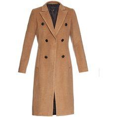 Rag & Bone Faye coat ($740) ❤ liked on Polyvore featuring outerwear, coats, jackets, coats & jackets, camel, beige pea coat, rag bone coat, camel peacoat, camel pea coat and beige coat