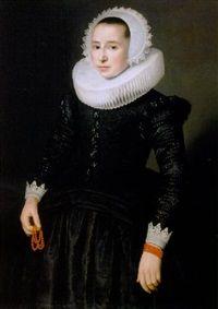 Portrait d'une femme, entourage de Nicolaes Eliasz Pickenoy