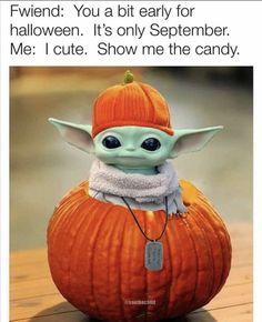 Yoda Meme, Yoda Funny, Yoda Halloween, Halloween Pics, Starwars, Yoda Images, Star Wars Drawings, Star Wars Jokes, Disney Jokes