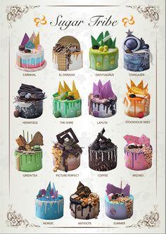 Drip cakes by Sugar Tribe