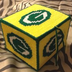 Packers gift box made with plastic canvas  idea only