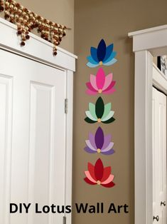 Lately, paper crafts have been my go-to party decorations – they are easy, quick and inexpensive too. I did couple of projects on paper flowers and I love how elegant and real they look, if d… Paper Wall Hanging, Paper Wall Decor, Wall Painting Decor, Wall Hanging Crafts, Diy Wall Art, Diy Wall Decor, Hanging Paper Decorations, Easy Paper Crafts, Diy Home Crafts