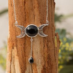 Onyx Moon Goddess Necklace