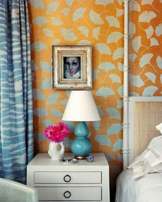 Love the use of turquoise and pink as accent colors
