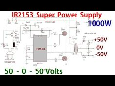 Hi, in this video I'll show you how to make a dual rail power supply with the Half Bridge Driver IC. Power Electronics, Electronics Basics, Electronics Projects, Electrical Engineering Books, Electronic Engineering, Class D Amplifier, Audio Amplifier, Mon Budget, Sony Led Tv
