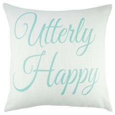 Handmade in the USA, this crisp linen pillow showcases a flowing cursive motif.   Product: PillowConstruction Materia...