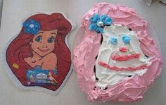 Yep this is why I have someone else make the cake. All of mine would look like this! LOL