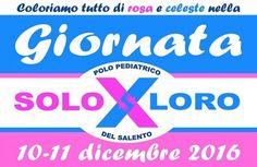 Lecce - 30 giorni per colorare tutto di rosa e celeste nel Salento la «Giornata SOLOxLORO»