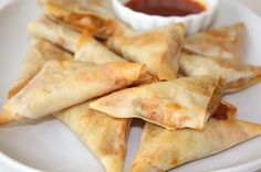 Baked Samosas. I have been craving Samosas since I went gluten-free and I had no idea you could make them with spring roll wrappers.