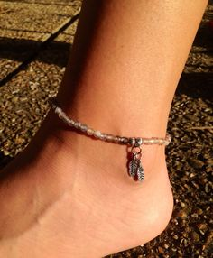 Genuine gemstone agate stretch anklet with by FireSpiritandSoul, $12.00