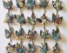 Earth Eden Succulent Bouquet di Eucca su Etsy