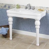 "Versailles Console Bathroom Sink with Center 36"" or 42"""