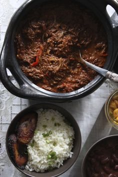 The Latin Road Home - Ropa Vieja con Frijoles Colorados/Braised Shredded Beef Stew w/ Red Beans