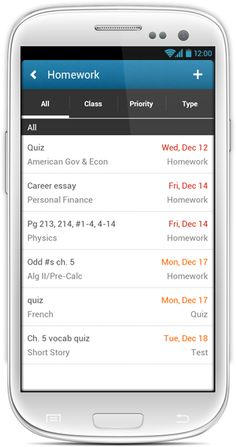 "Back to school week: Nothing beats the ""My Homework"" app for staying organized."