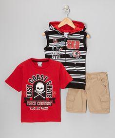 Look at this #zulilyfind! Red 'Street Skate' Vest Set - Boys #zulilyfinds
