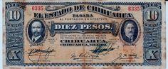 Estado de Chihuaha - Mexico. Diez Pesos 1915.