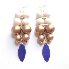 These Albers Earrings by Irene Wood are so unique!