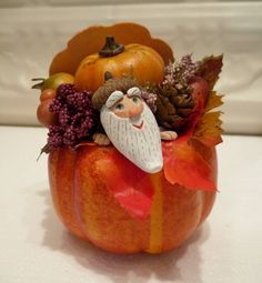 Garden gnome hiding in Pumpkin Sculpture by WorkofWhimsy on Etsy Gnome Garden, Some Fun, Gnomes, I Shop, Thanksgiving, Pumpkin, Hands, Sculpture, Vegetables