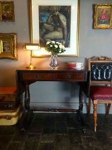 Stunning Mahogany Antique Drop Leaf Sofa Table