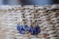 Iolite Earrings Water Sapphire Chandelier by BoutiqueBaltique