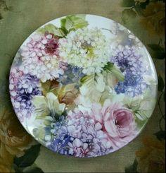 Hydrangea Plate