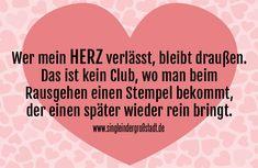 Spruch: Mein Herz ist kein Club …
